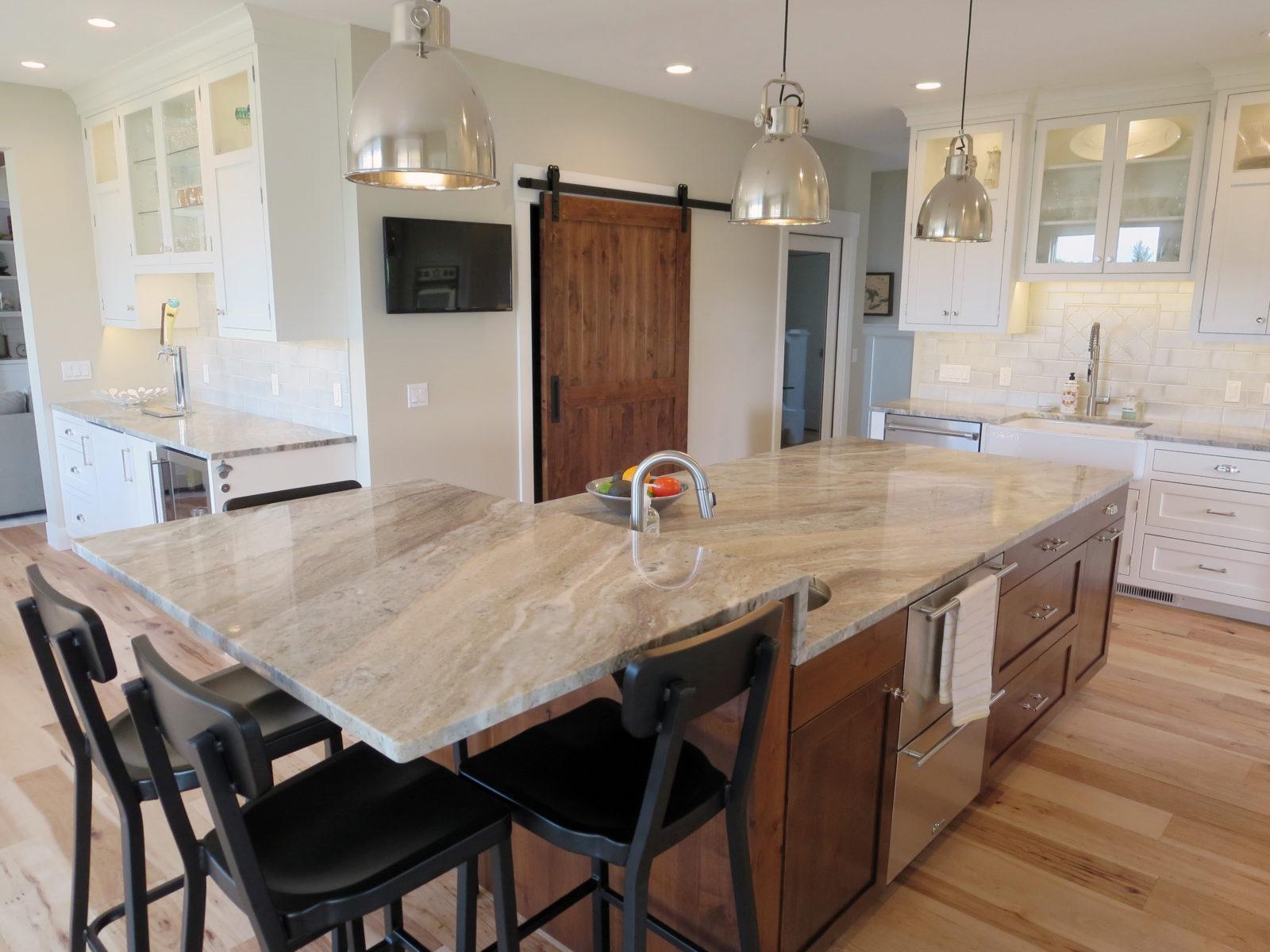 Spring Lake Residence | Fantasy Brown Granite Kitchen