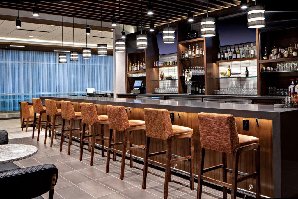 "Hyatt Place Grand Rapids/Downtown | Quartz Bar Top with 3"" Build Up"